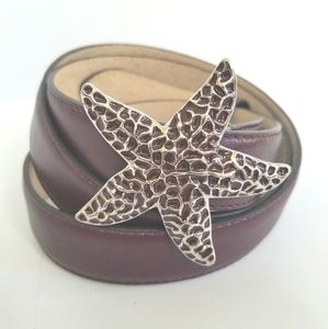 Talbots Starfish Purple Genuine Leather Belt
